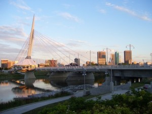 Winnipeg Skyline - Esplanade Riel Pedestrian Bridge