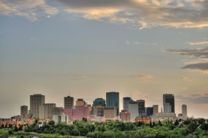 Skyline of Edmonton, Alberta