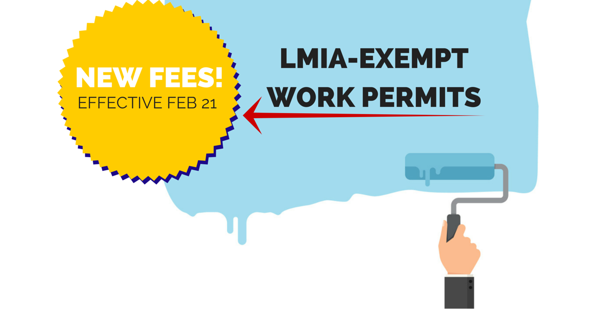 New Fees for LMIA-Exempt Work Permits