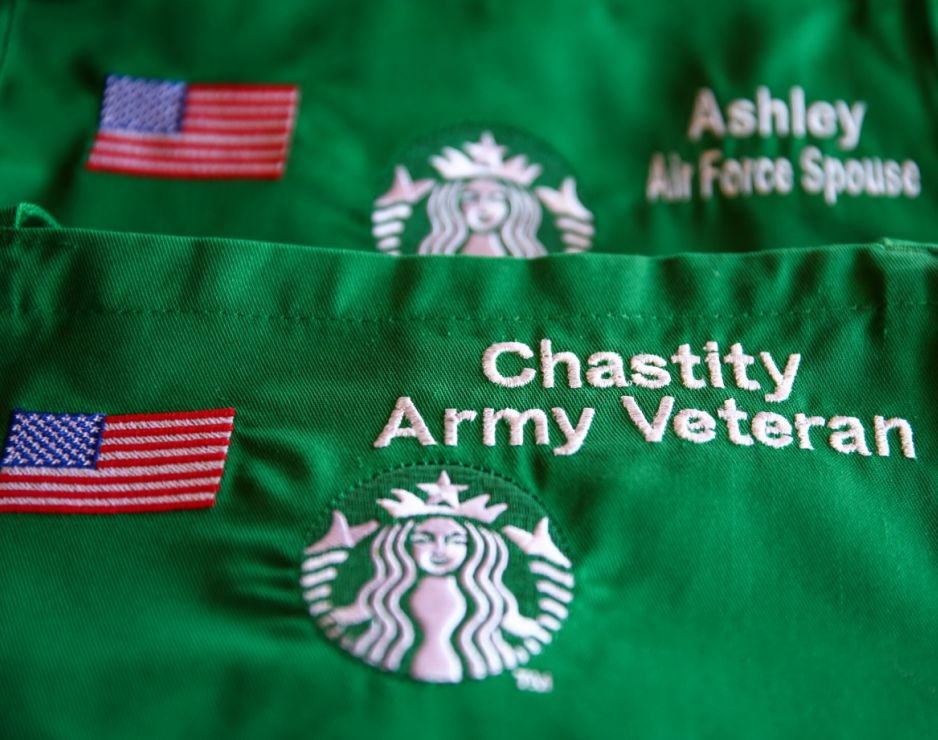 Starbucks Hires Veterans