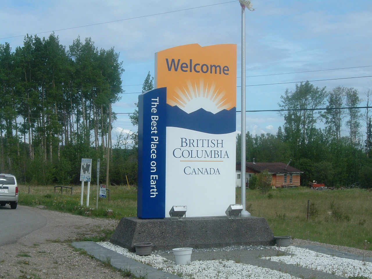 British Columbia Welcome Sign