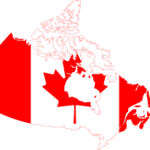 Canada flag imposed over Canada