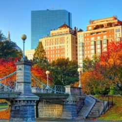 The Boston Common and Public Garden are a pair of public parks in Boston, Massachusetts.