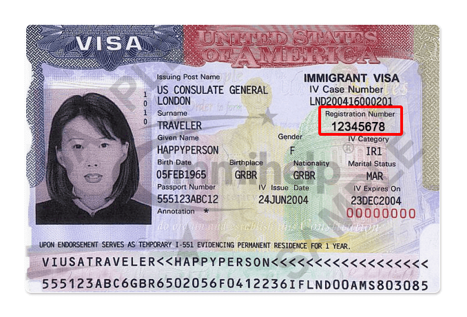 Alien Registration Number USCIS